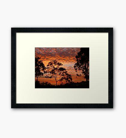 Tweed River Sunset Framed Print