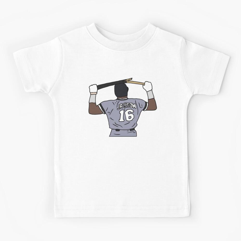 Bo Jackson Breaking A Bat Kids T-Shirt