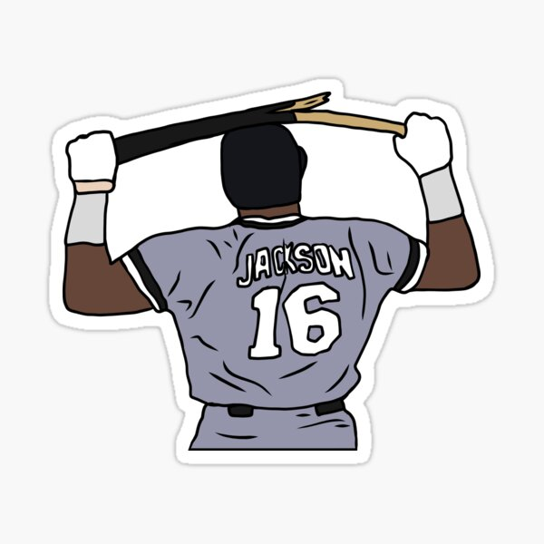 Bo Jackson Breaking A Bat Sticker