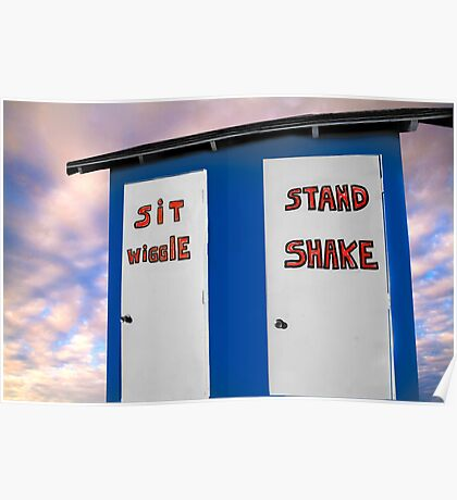 """""""Potty Dance"""" - Sit and Wiggle, Stand and Shake Poster"""