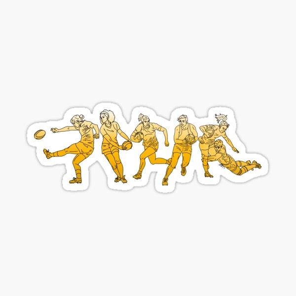 Yellow Rugby Girls! Sticker