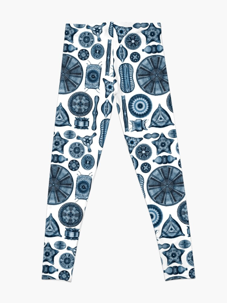 Alternate view of Ernst Haeckel Diatoms Navy Blue Leggings