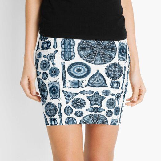 Ernst Haeckel Diatoms Navy Blue Mini Skirt
