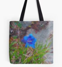 Blue Gentian - closeup Tote Bag