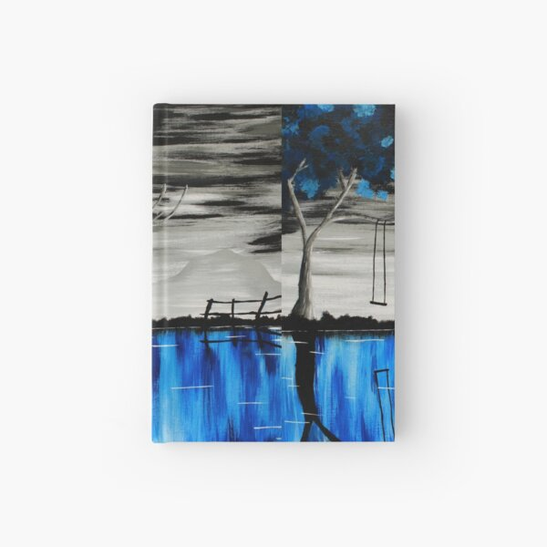 Reflecting Blue Hardcover Journal