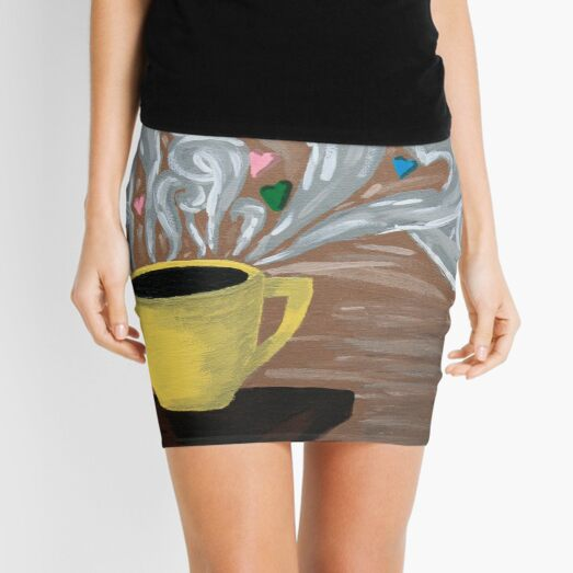 For the Love of Coffee Mini Skirt