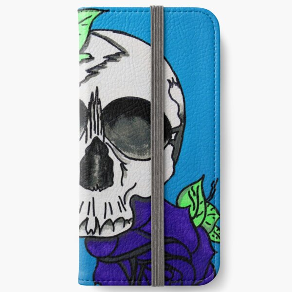 Flower Skull iPhone Wallet
