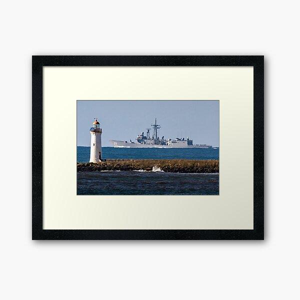 HMAS Melbourne going past Port Fairy Framed Art Print