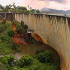 Moogerah Dam Spilling by Kym Howard