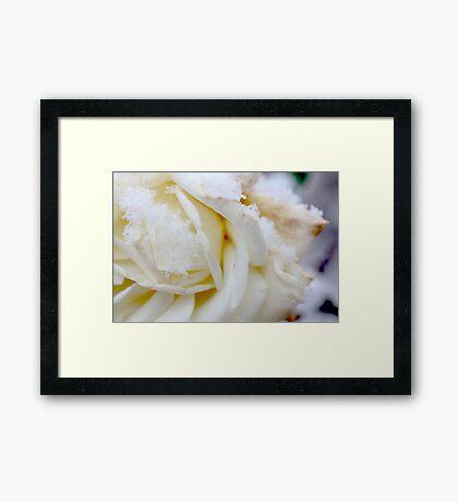 white winter Framed Print