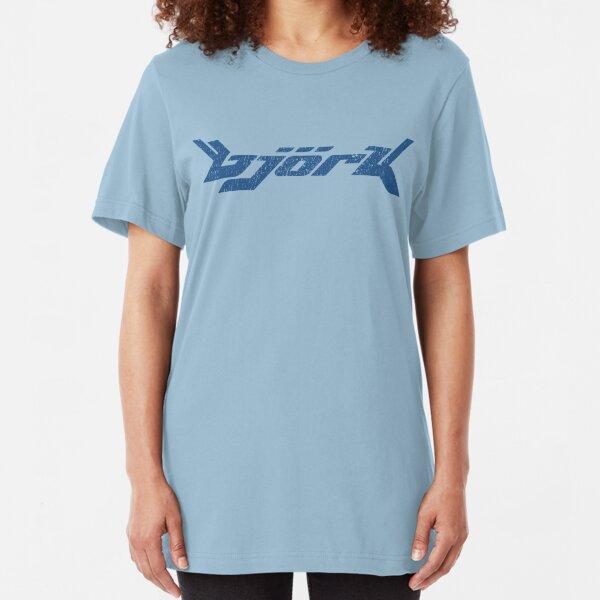 Bjork (distressed design) Slim Fit T-Shirt
