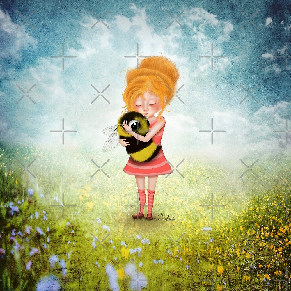 Whimsical Bee Hugger by jitterfly