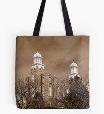 Logan Temple - Winter Branches Tote Bag