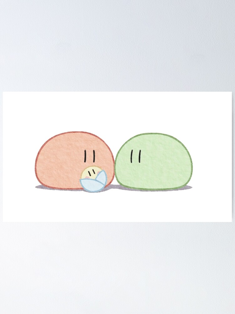 Clannad Dango Daikazoku Big Dango Family Poster By Wabobabo Redbubble