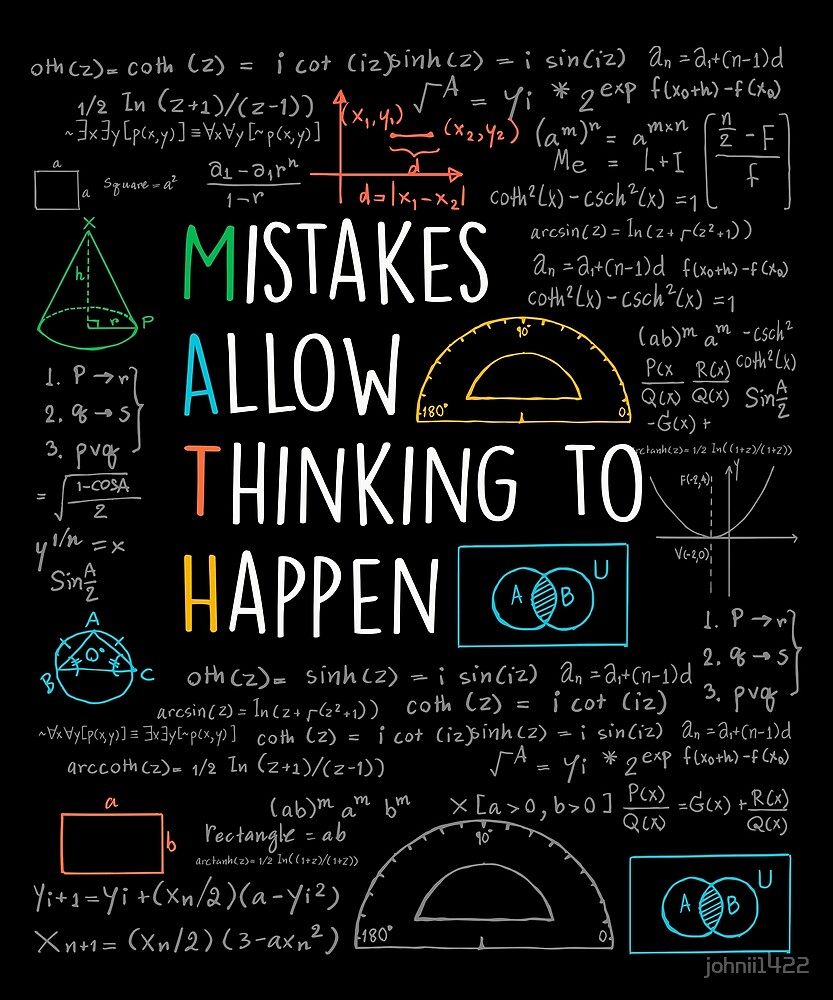 mistakes allow thinking to happen math teacher quotes funny