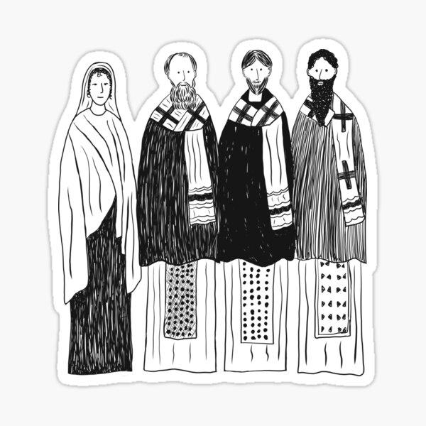 The Four Cappadocians (Basil, Gregory, Gregory, Macrina)  Sticker