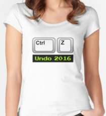 Undo 2016: Ctrl Z (PC) Fitted Scoop T-Shirt