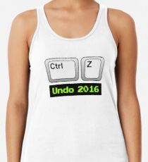 Undo 2016: Ctrl Z (PC) Racerback Tank Top