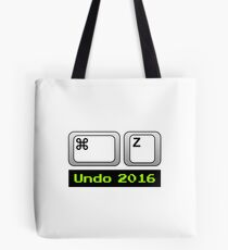 Undo 2016: Command ⌘ Z (Mac) Tote Bag