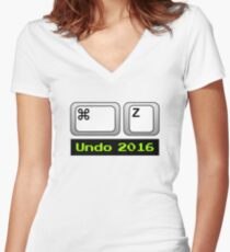 Undo 2016: Command ⌘ Z (Mac) Fitted V-Neck T-Shirt
