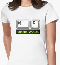 Undo 2016: Command ⌘ Z (Mac) Fitted T-Shirt