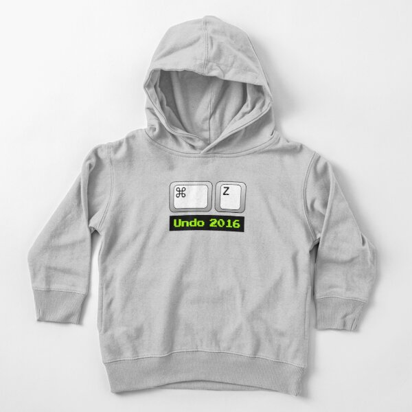 Undo 2016: Command ⌘ Z (Mac) Toddler Pullover Hoodie