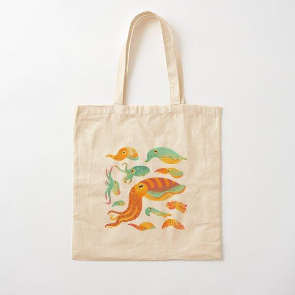 Cuttlefish - dark Cotton Tote Bag