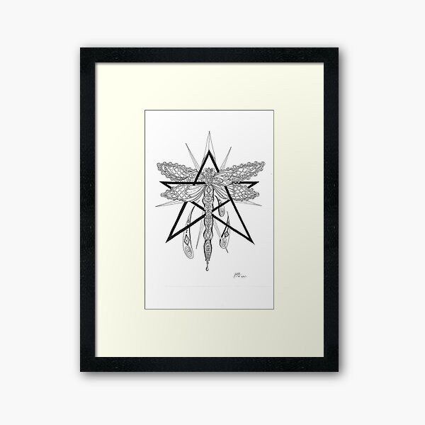 Dragonfly Star Framed Art Print