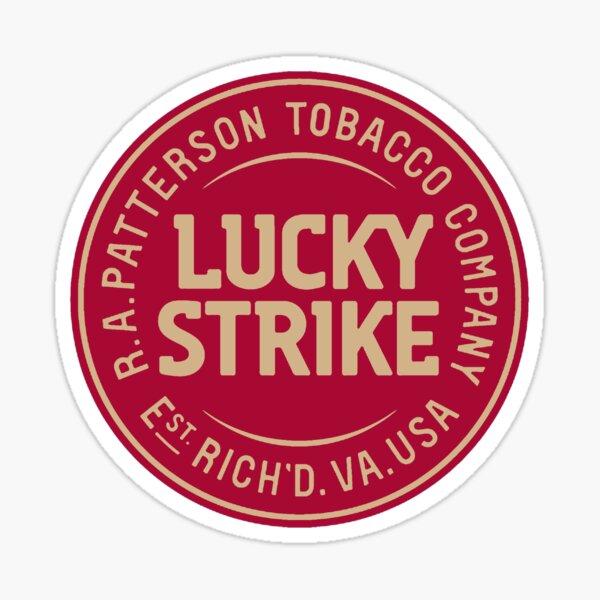 Logo Lucky Strike Rojo Oro Pegatina