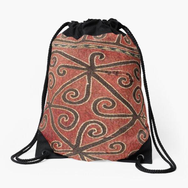 Kyrgyz felt carpet ala kiyiz (motley felt) Киргизский войлочный ковер ала-кийиз (пестрый войлок) Drawstring Bag