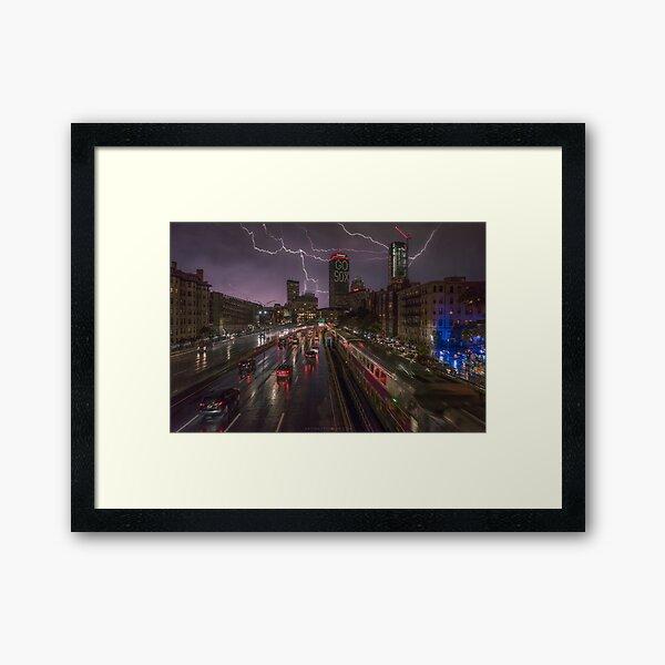 Back Bay, Boston. Framed Art Print