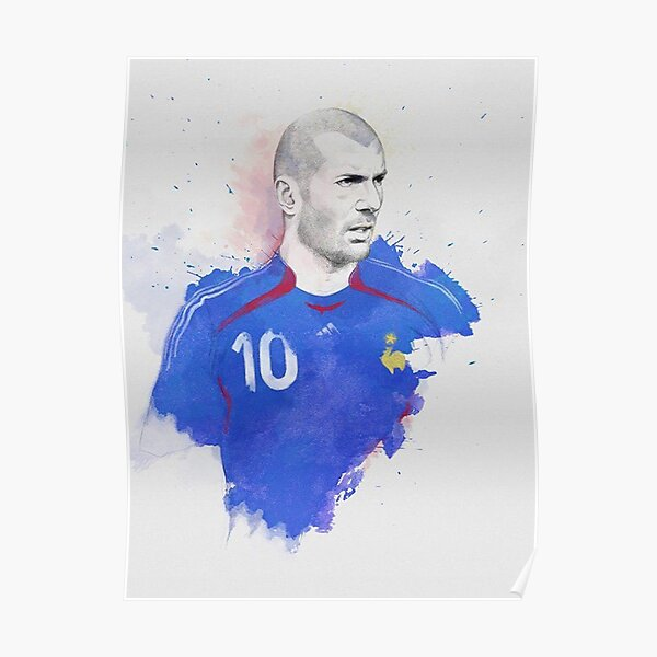Zidane Aquarelle Poster