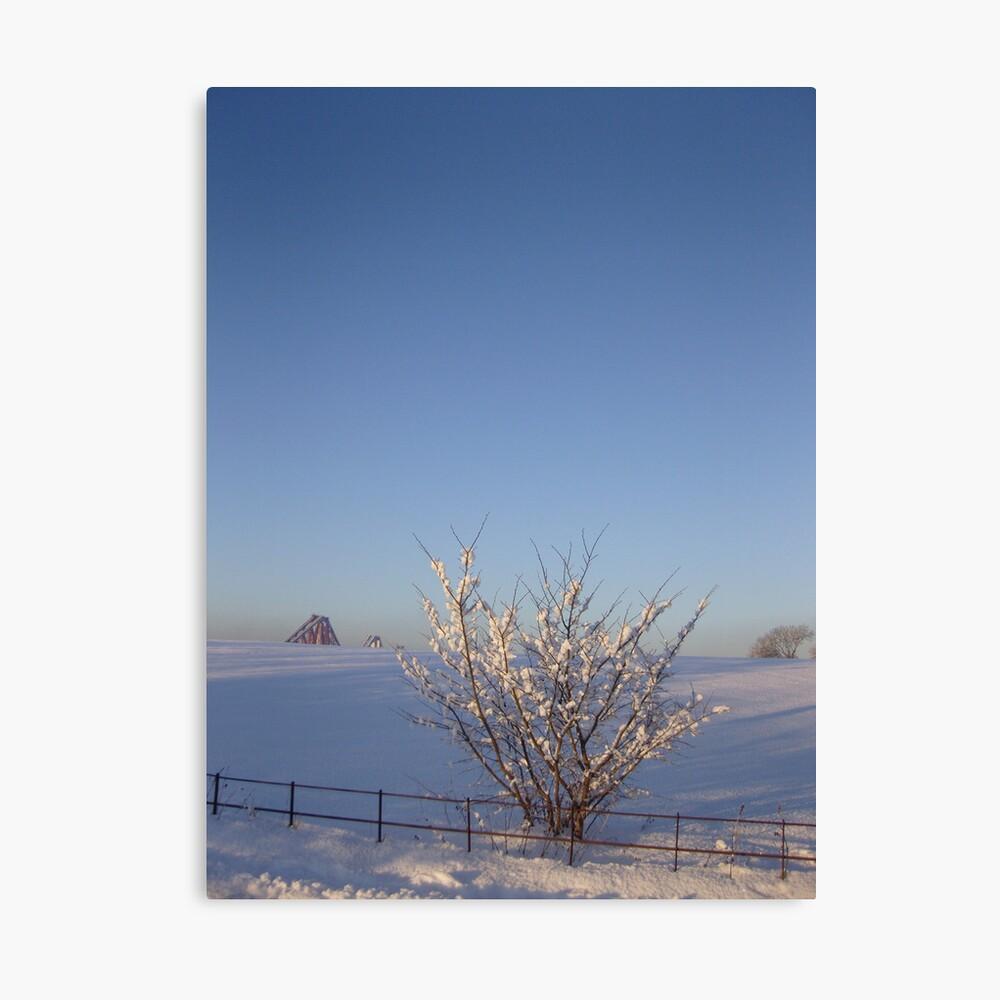 Rail Bridge Winter Canvas Print