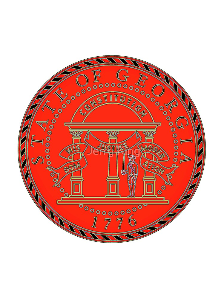 State Of Georgia State Seal Baby One Piece By Captainchrispba Redbubble