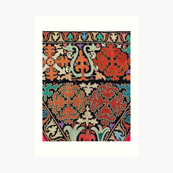 Kyrgyz felt carpet ala kiyiz (motley felt) Киргизский войлочный ковер ала-кийиз (пестрый войлок) Art Print