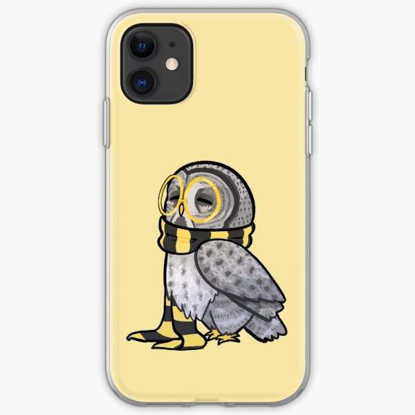 Kind Great Grey Owl with Scarf iPhone Soft Case