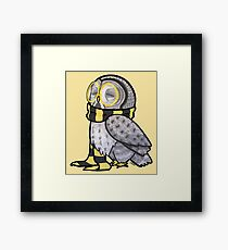 Kind Great Grey Owl with Scarf Framed Print