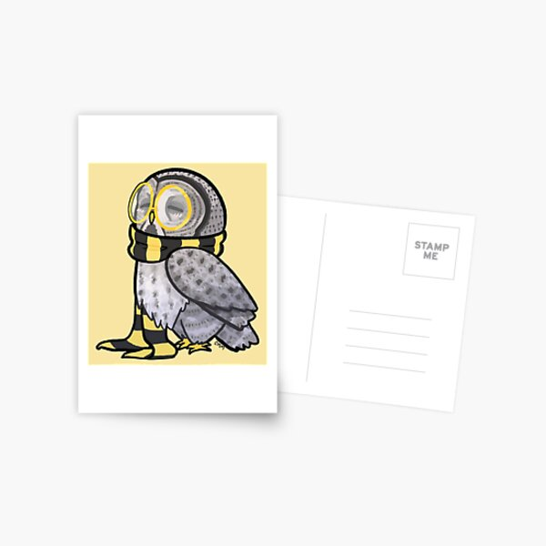 Kind Great Grey Owl with Scarf Postcard