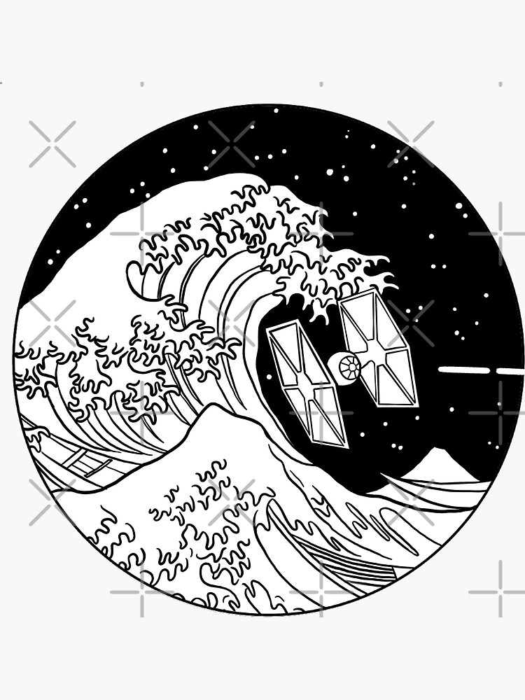 Spaceship in Space - The Great Wave by luciddreame