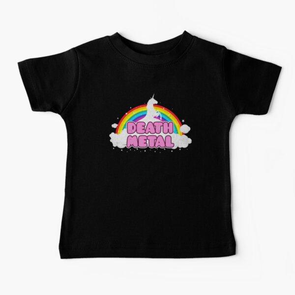 Death Metal Rainbow Unicorn Baby T-Shirt