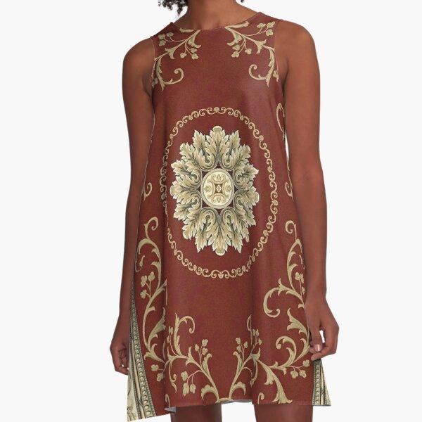 Kyrgyz felt carpet ala kiyiz (motley felt) Киргизский войлочный ковер ала-кийиз (пестрый войлок) A-Line Dress