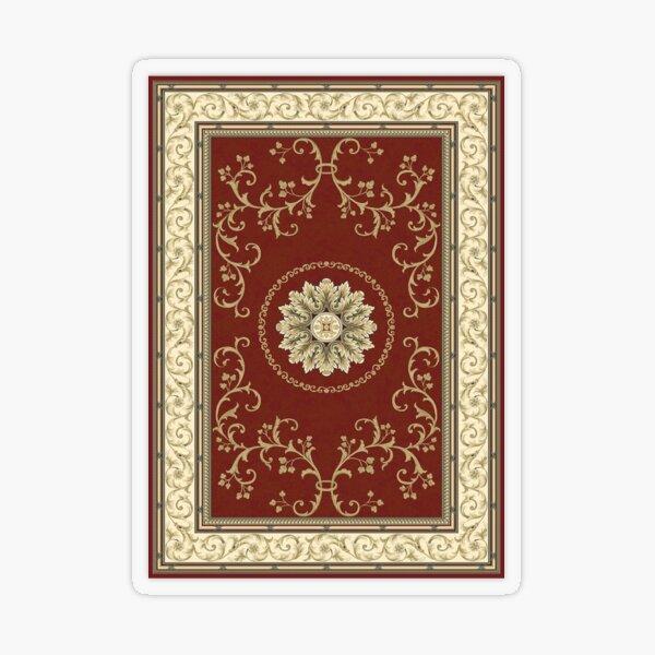 Kyrgyz felt carpet ala kiyiz (motley felt) Киргизский войлочный ковер ала-кийиз (пестрый войлок) Transparent Sticker