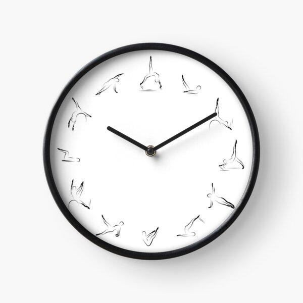 Pilates poses clock design Clock