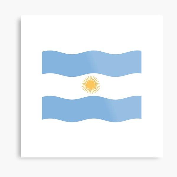 Simple Flag of Argentina Metal Print