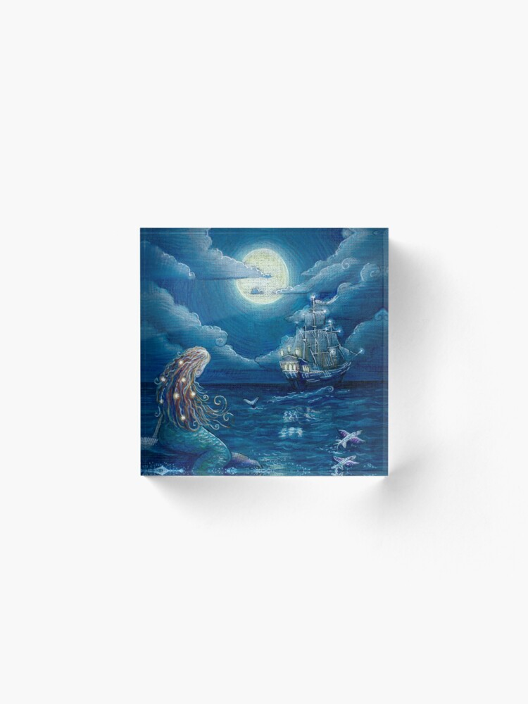 Alternate view of Mermaid Acrylic Block