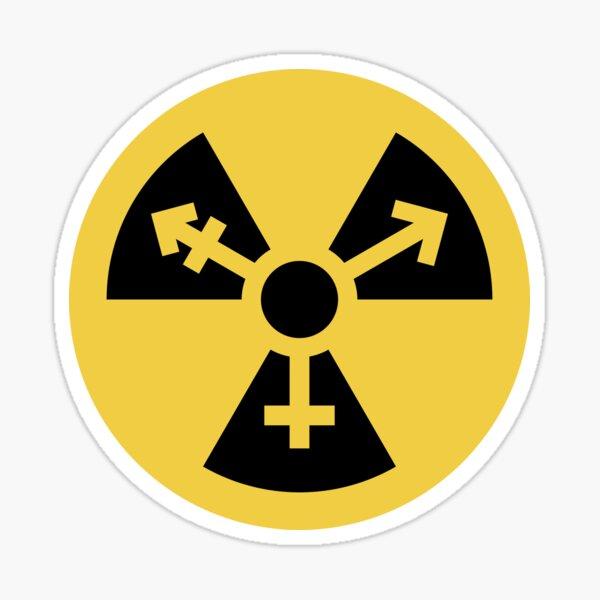 Símbolo trans radiactivo nuclear Pegatina
