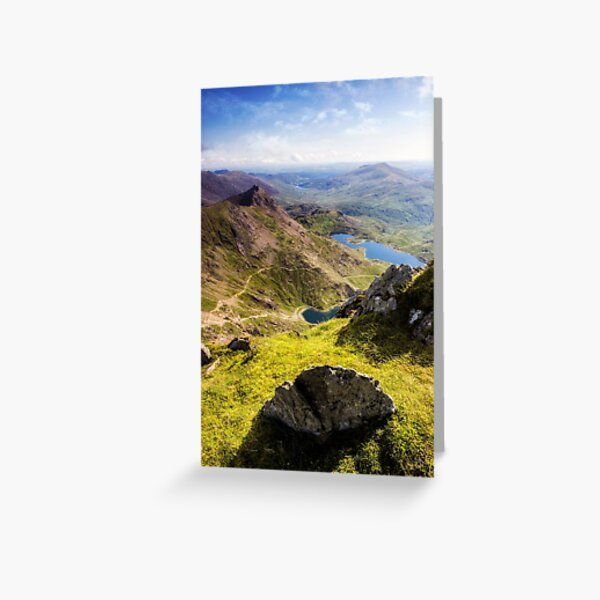 Snowdon Pyg and Miners Track Greeting Card