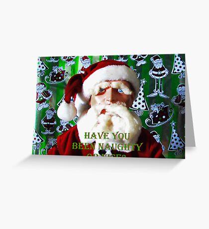Hugo Christmas-- Naughty or Nice? Greeting Card