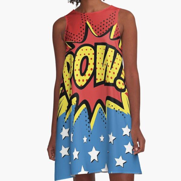 Pow Comic Book A-Line Dress