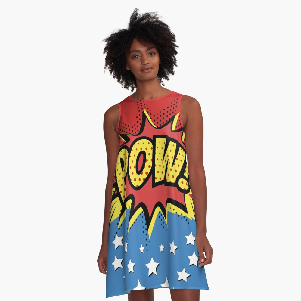 Pow Comic Book A-Line Dress